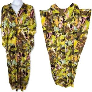 1X Melissa McCarthy Knit Kaftan Style Maxi Dress